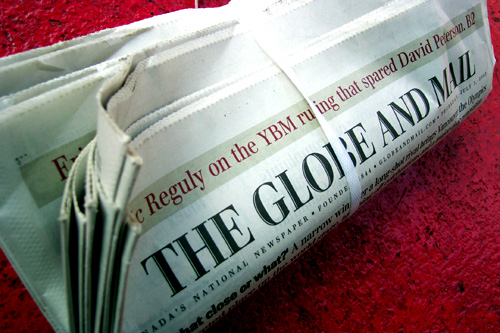 globe mail book review editor