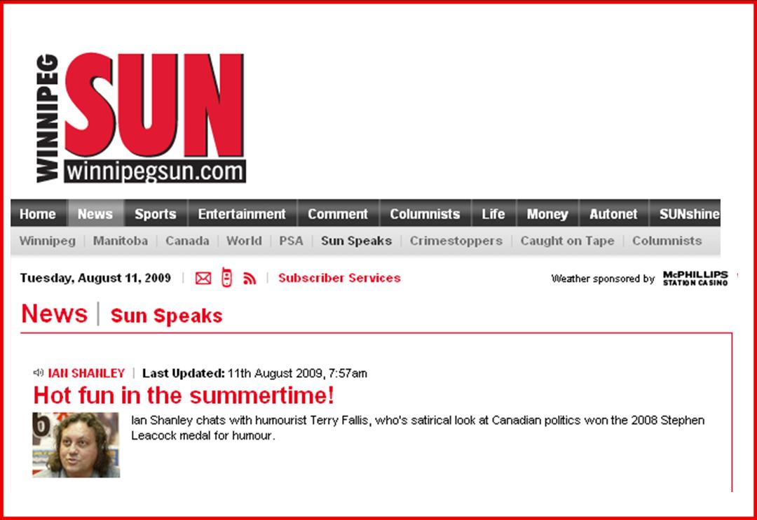 Winnipeg Sun Interview graphic