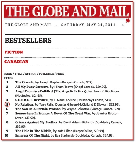 Globe Bestseller List May 24-2014