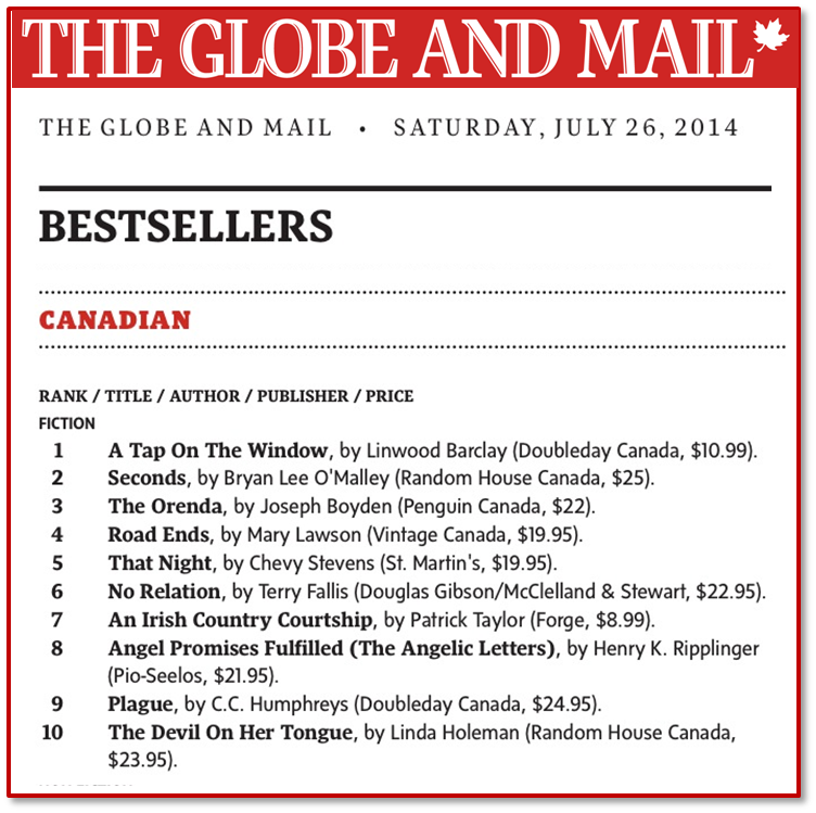 G&M Bestseller list July 26, 2014