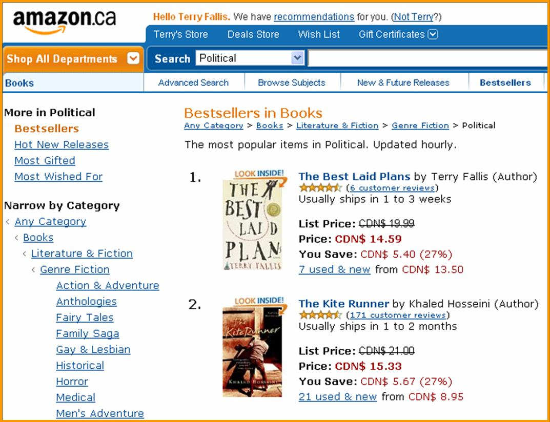 Amazon #1 Politics Bestseller