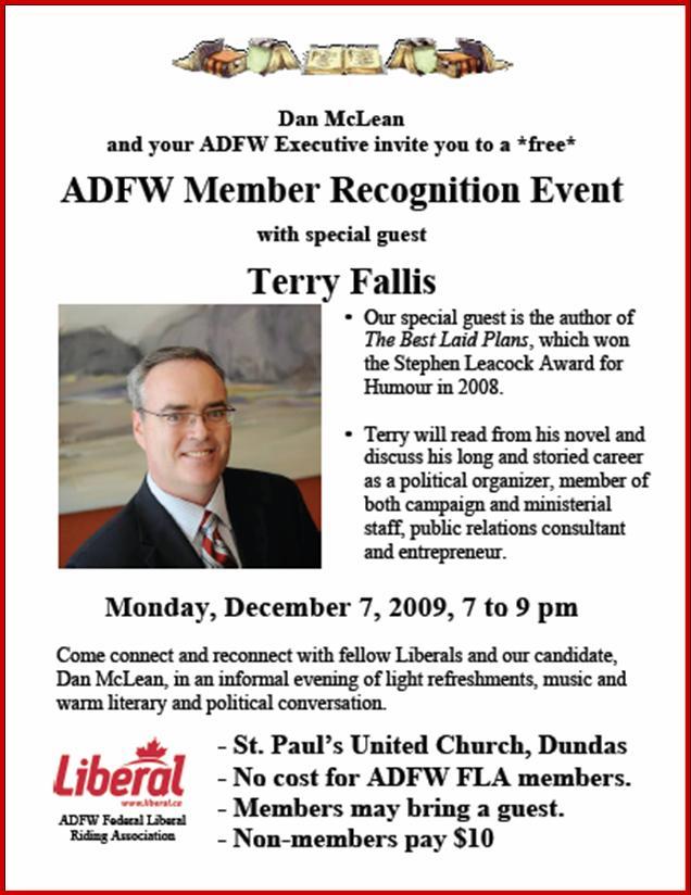 Dundas Liberal event