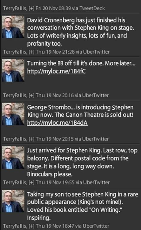 Stephen King Twitter comments