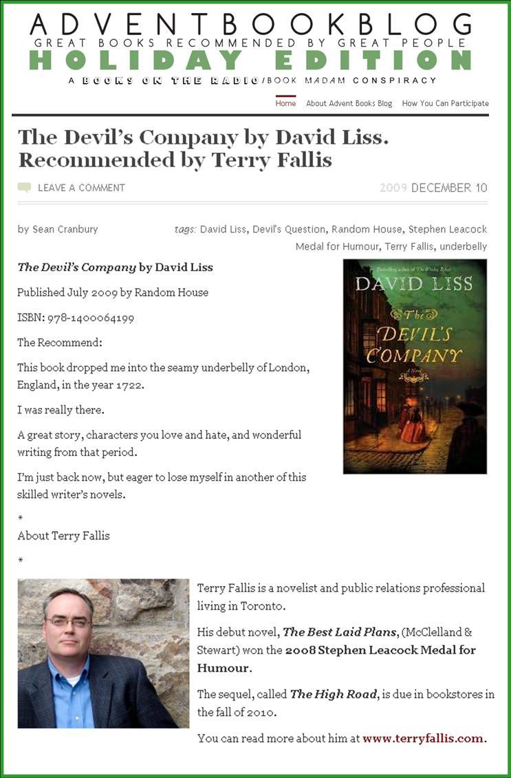 Advent Book Blog TF rec