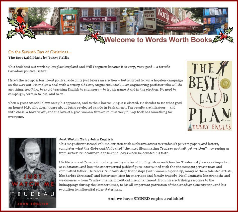 Words Worth Blog (Christmas)