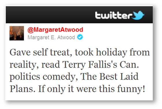 Margaret Atwood tweet re TBLP