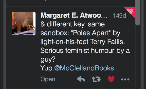 Atwood Tweet re Poles Apart