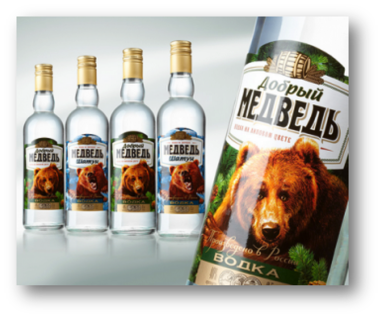 Gentle bear vodka (Shadow)