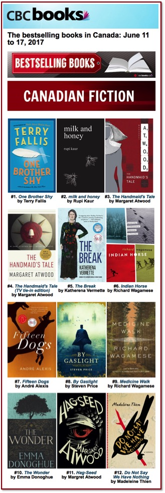 CBC Bestsellers June 17
