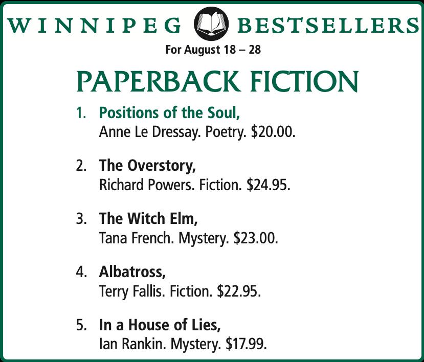 Winnipeg Bestsellers (McNR) 190828
