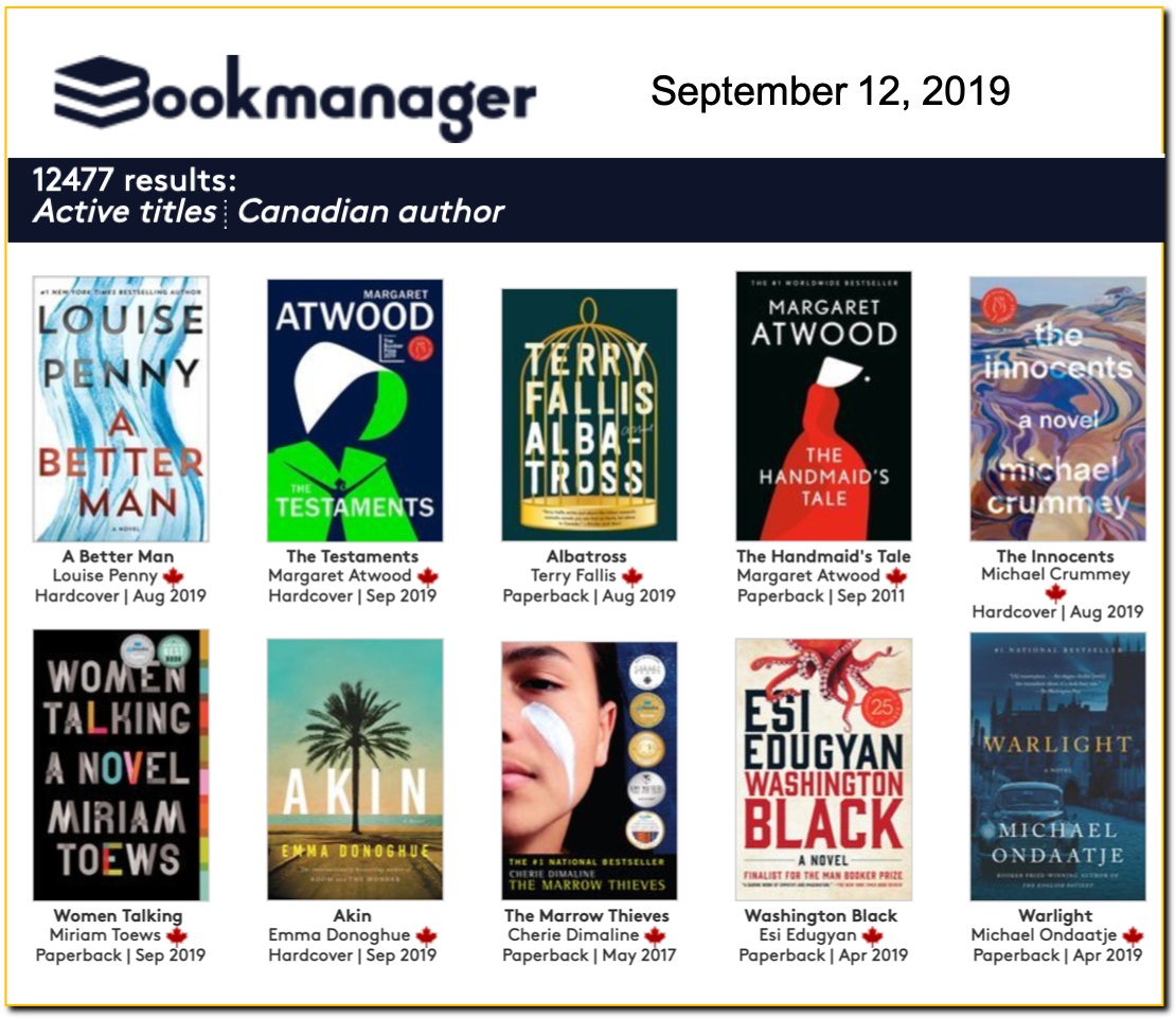 Bookmanager ranking 190912