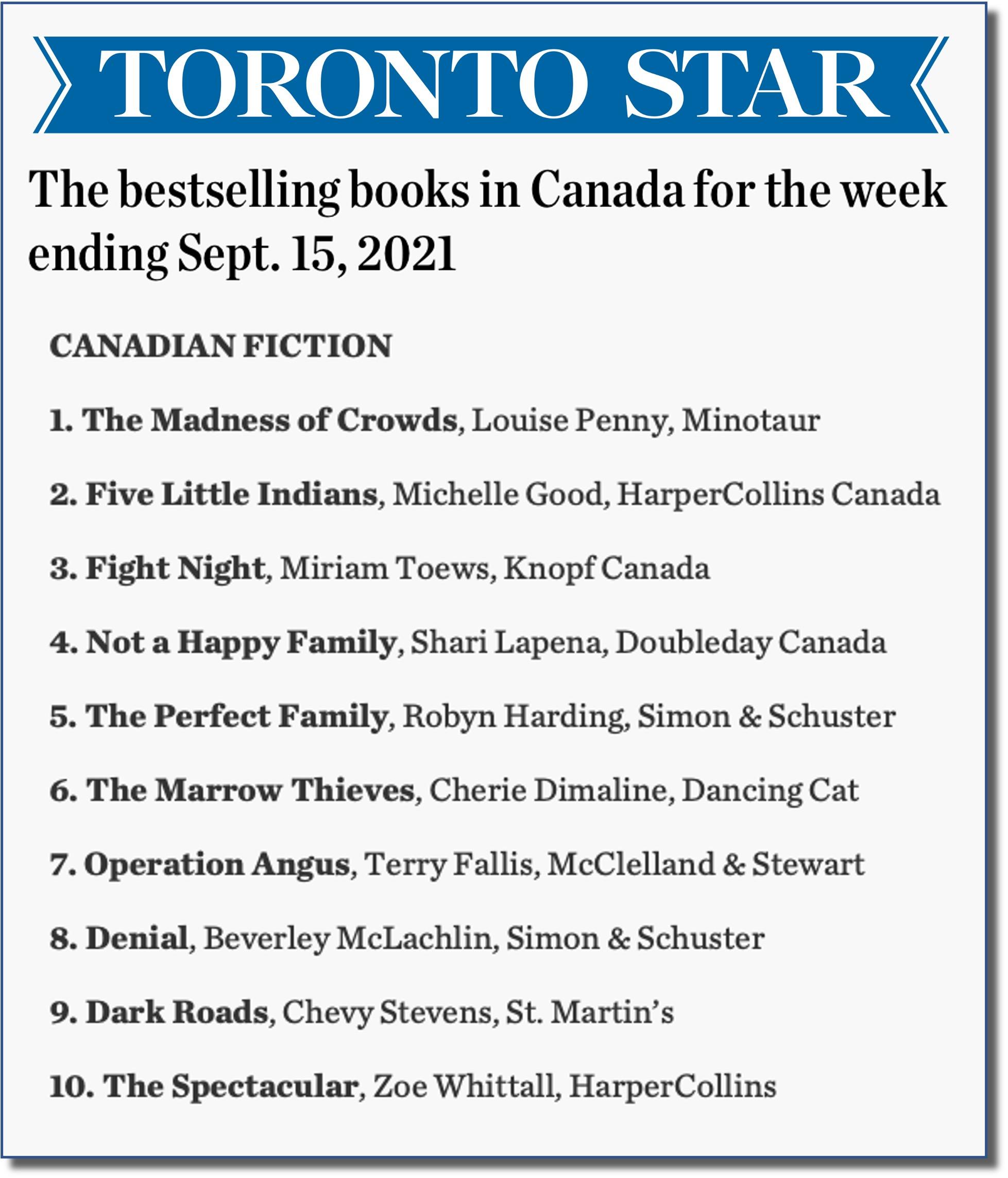 Toronto Star Sept 15
