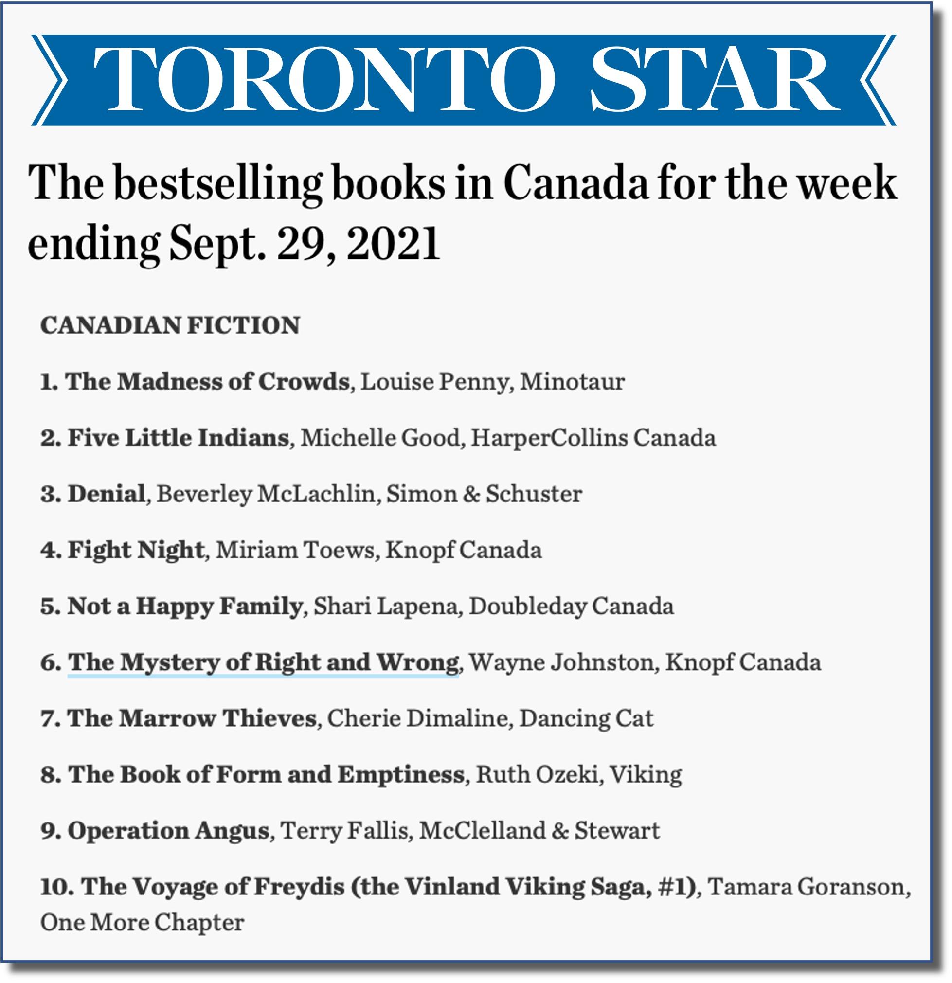 Toronto Star Sept 29