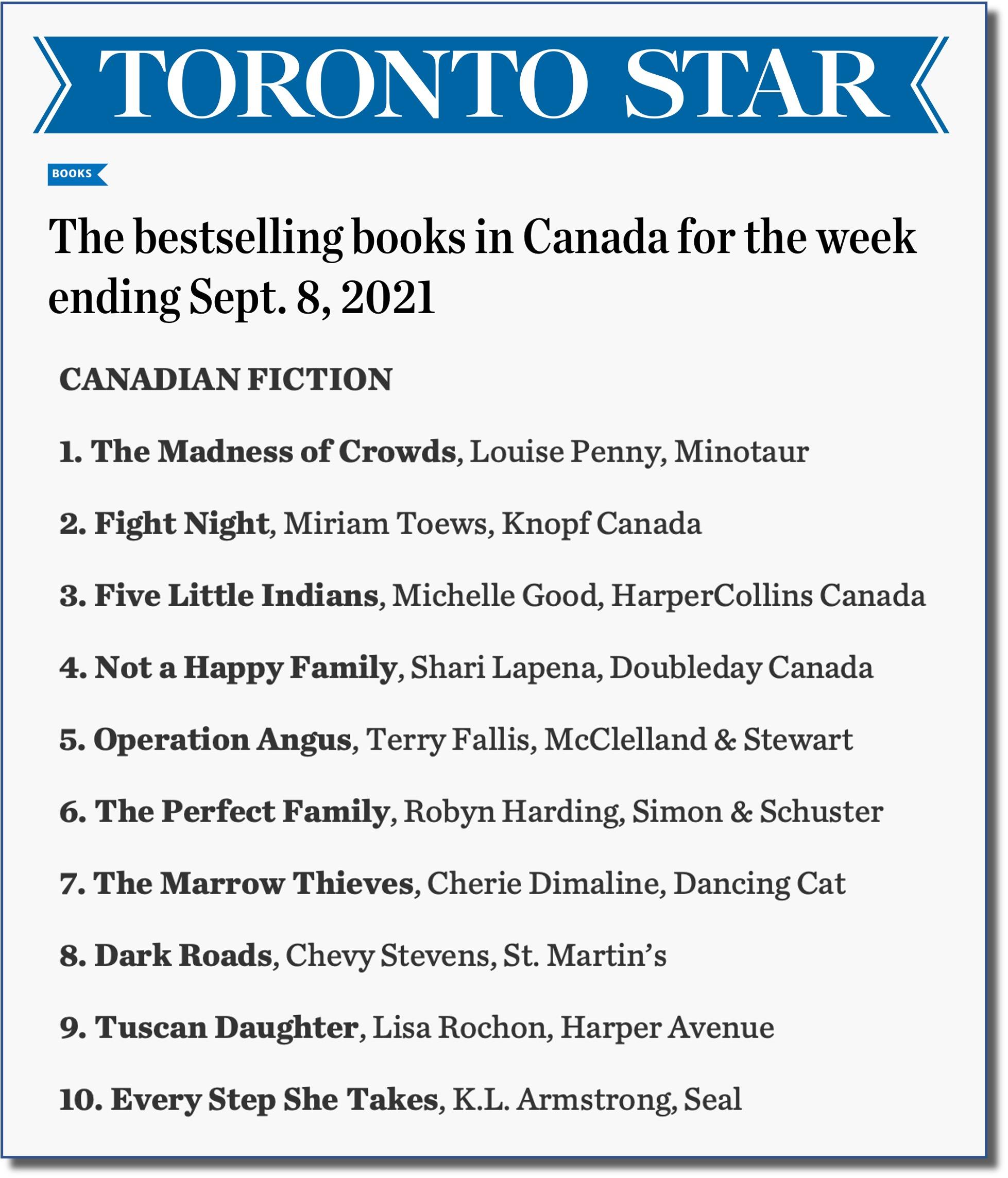 Toronto Star Sept 8