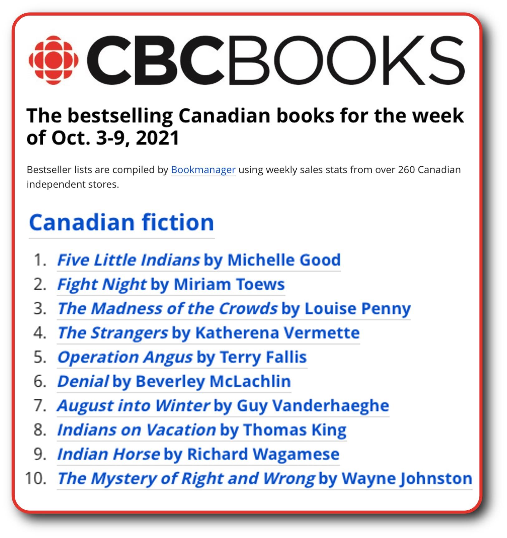 CBC List Oct 9